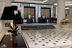 Roumanie - Bucarest - Hall de l'hôtel Marriot