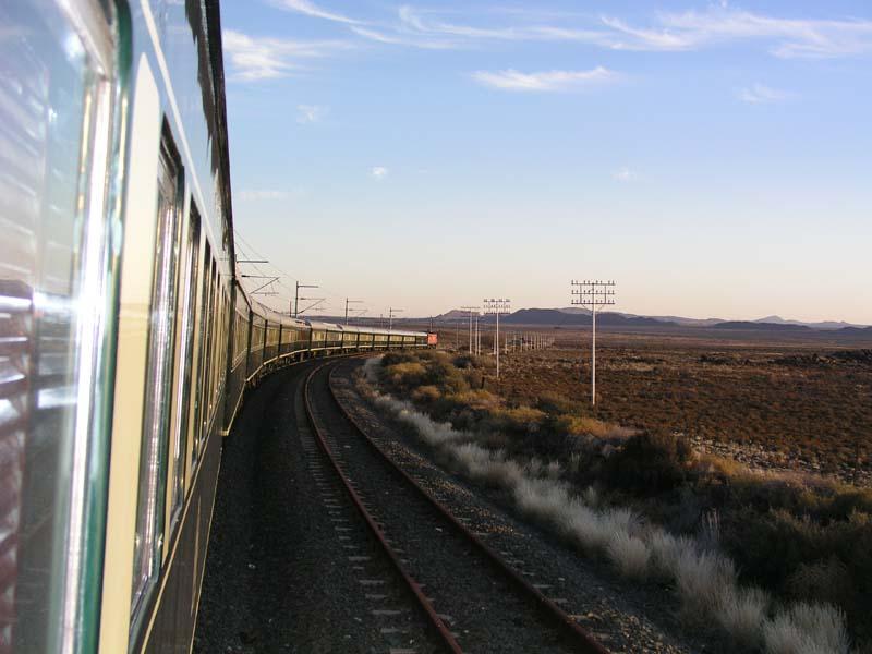 Rovos Rail auf dem Weg nach Cape-Town