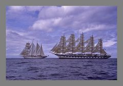Royal Clipper meets Star Clipper