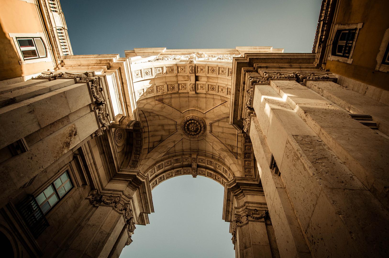 Rua Augusta Arch. Lisbon. Commerce Square