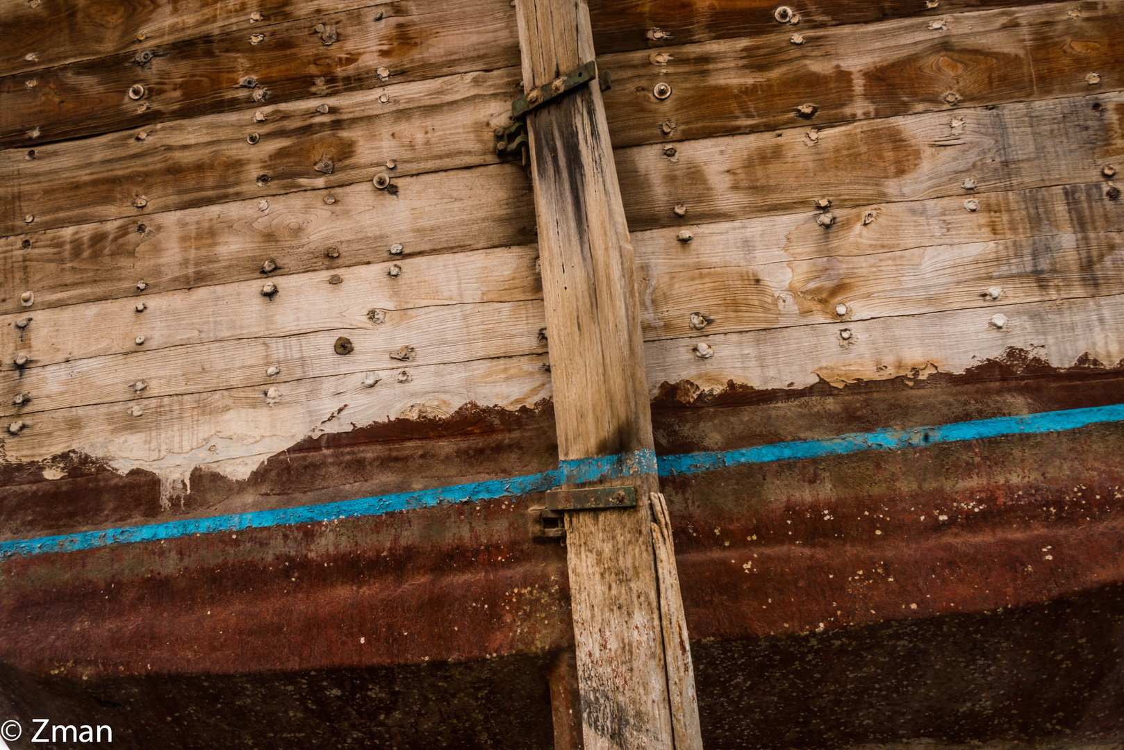 Rudder of the Decommissioned Dhow.