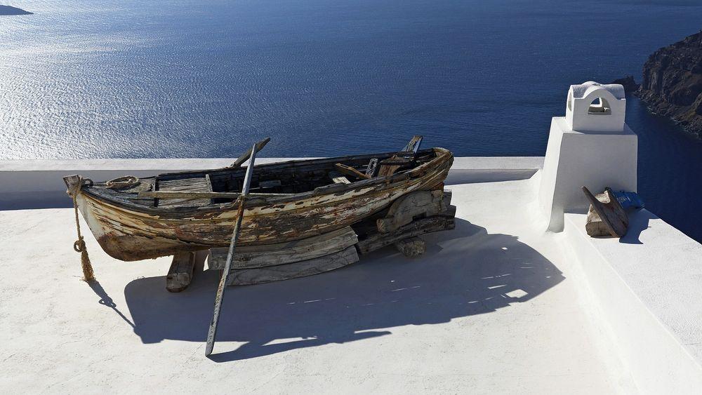 Ruderboot in Firostefani