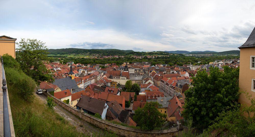 Rudolstadt - Blick von der Heidecksburg auf die Altstadt