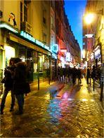 Rue de la Huchette, quand vient la nuit...