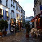 rue Poulbot (am Montmartre) abends