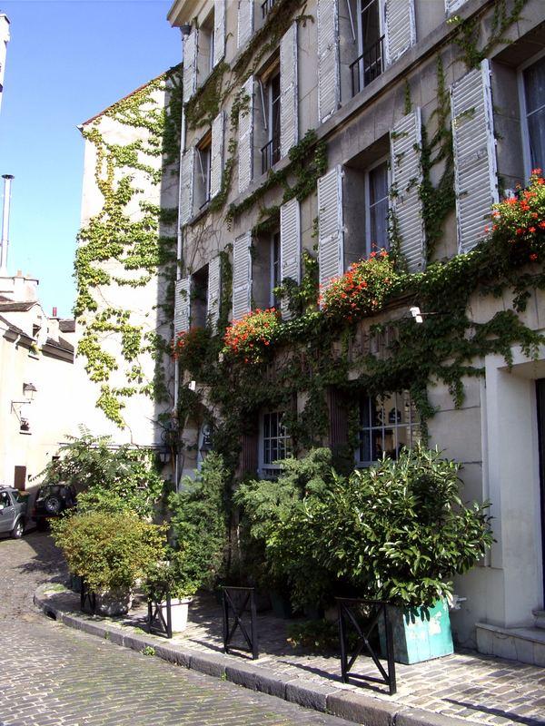 rue Poulbot (am Montmartre) morgens