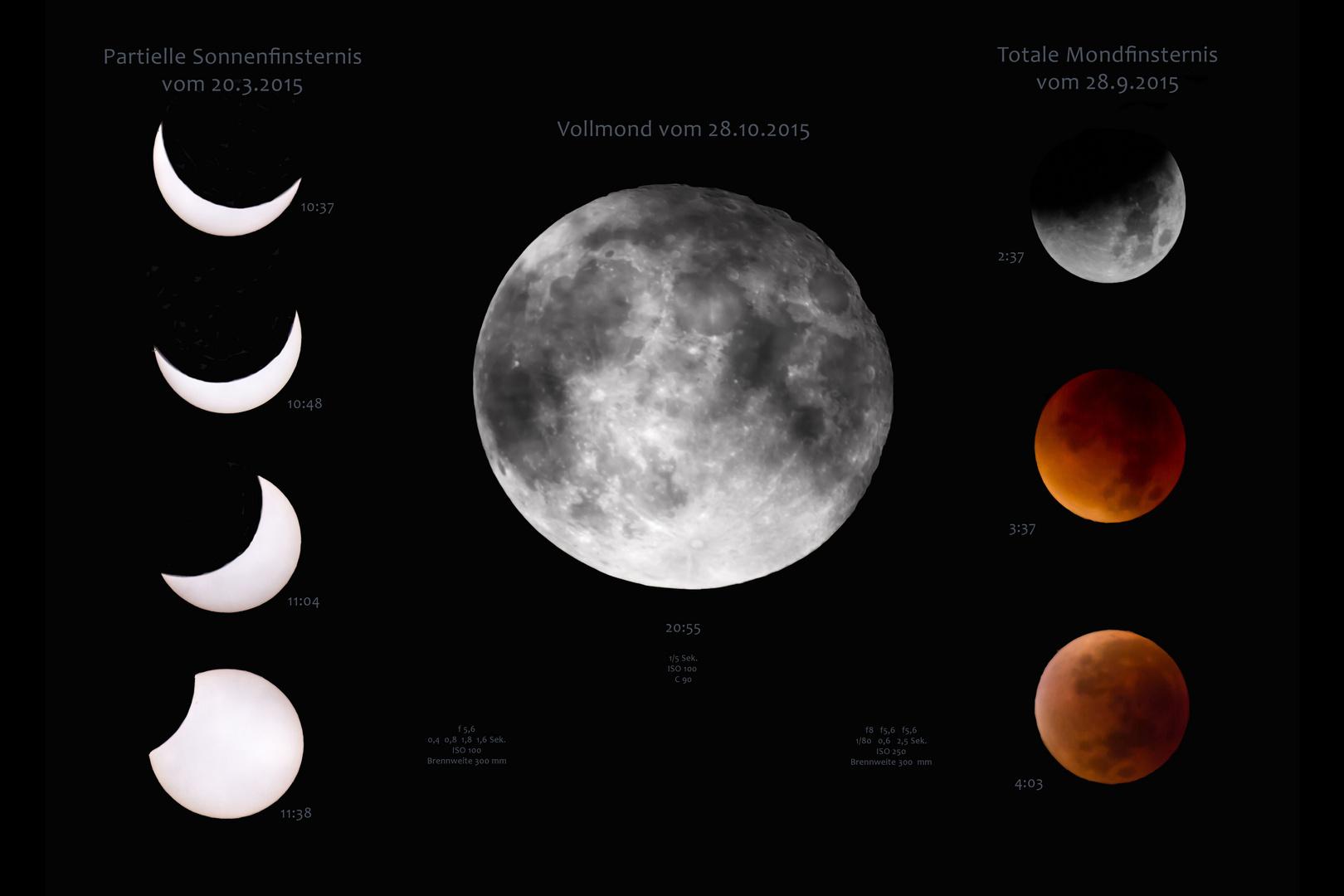 Rückblick auf das astronomisch spannende Jahr 2015