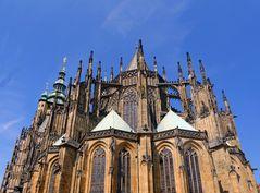 Rückseite des St. Veitsdom in Prag -