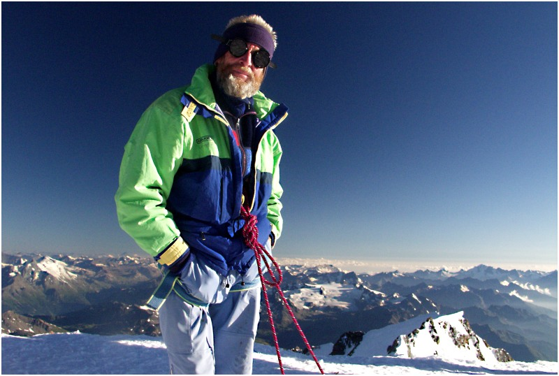 ruedi der bergsteiger 4807 m über meer