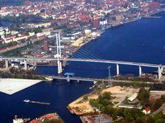 Rügen - Strelasund - Stralsund (alte + neue Brücke)