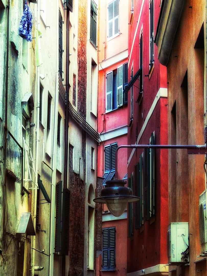 Rues étroites à Gênes