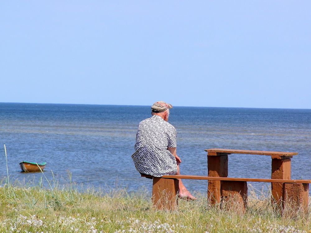 Ruhe, nur das Meer