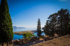 Ruhe vor dem Sturm der Touristen Akropolis Lindos