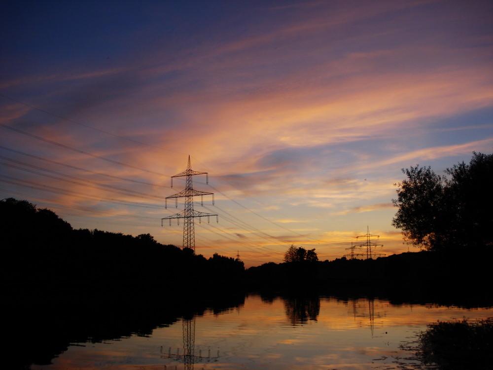 Ruhr Sonnenuntergang