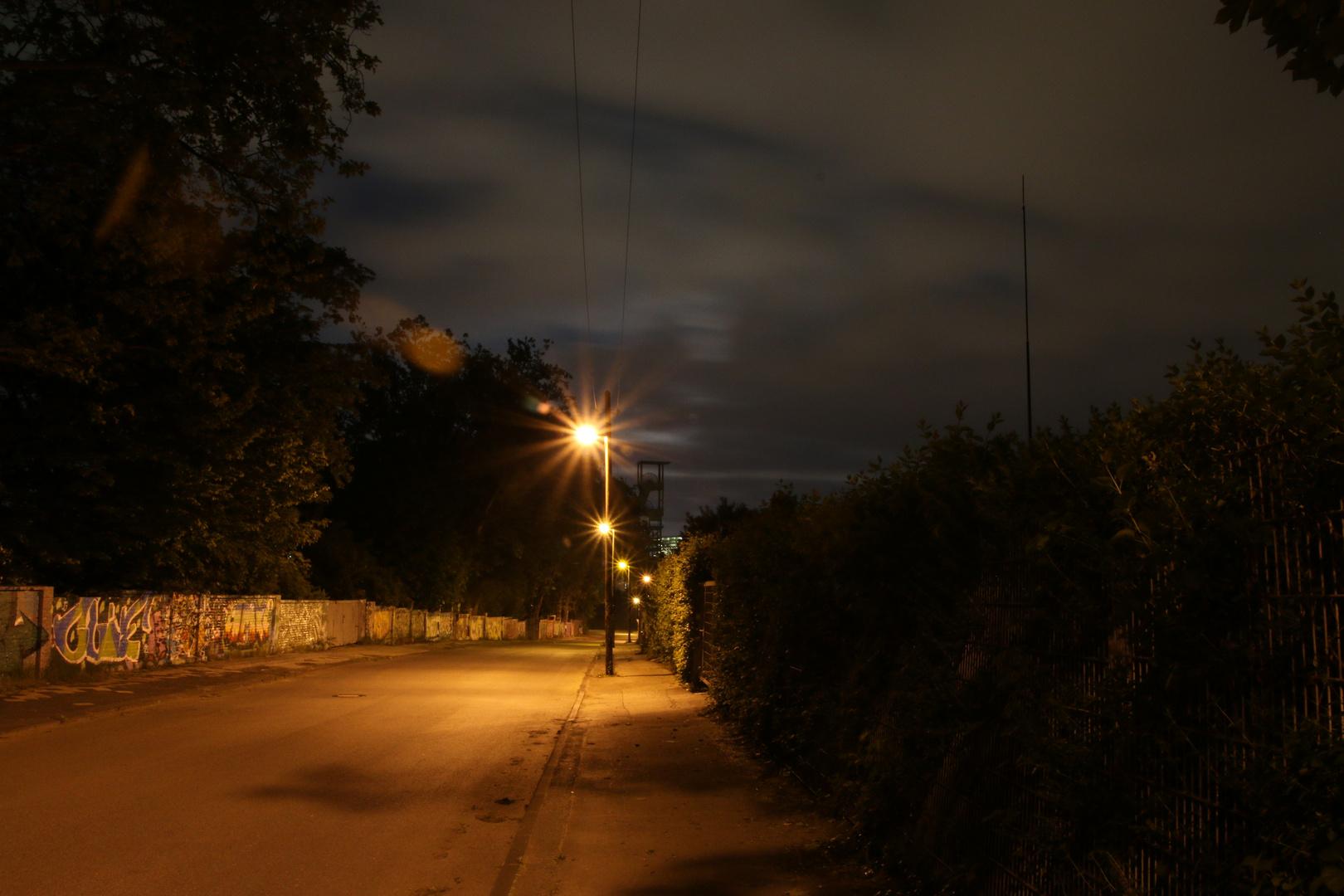 Ruhrgebietsidylle bei Nacht