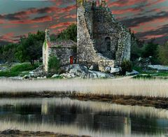 ruinas del castillo de catoira ( Vigo )