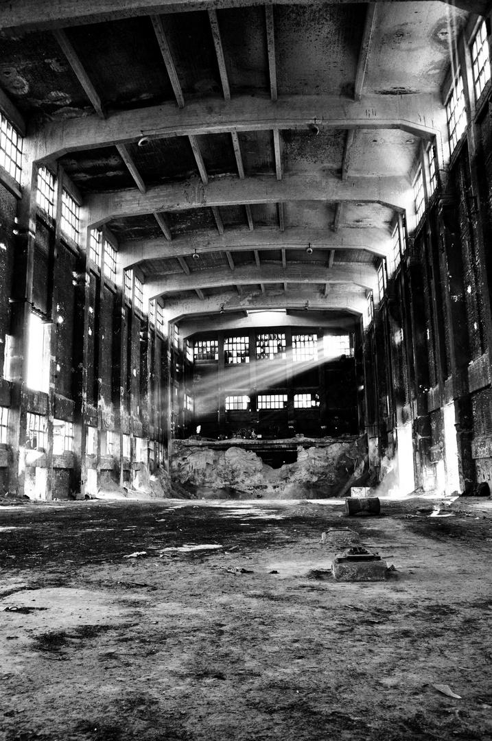 Ruine altes futtermischwerk