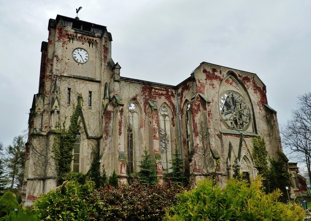 Ruine der Pfarrkirche Markleeberg - Wachau