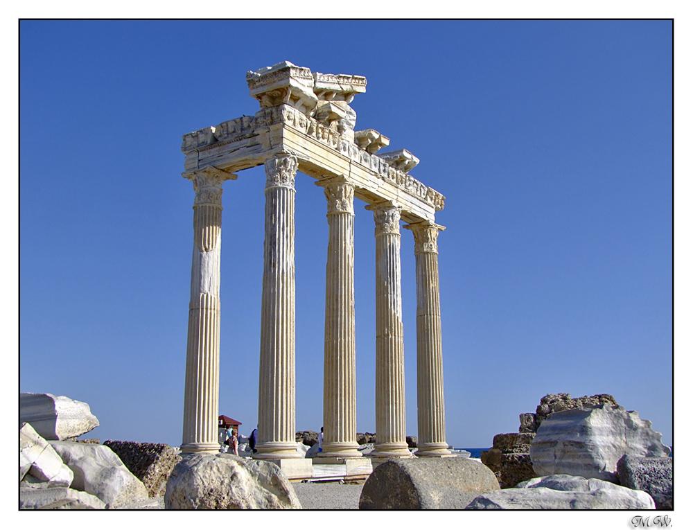 Ruine des Apollon-Tempels in Side