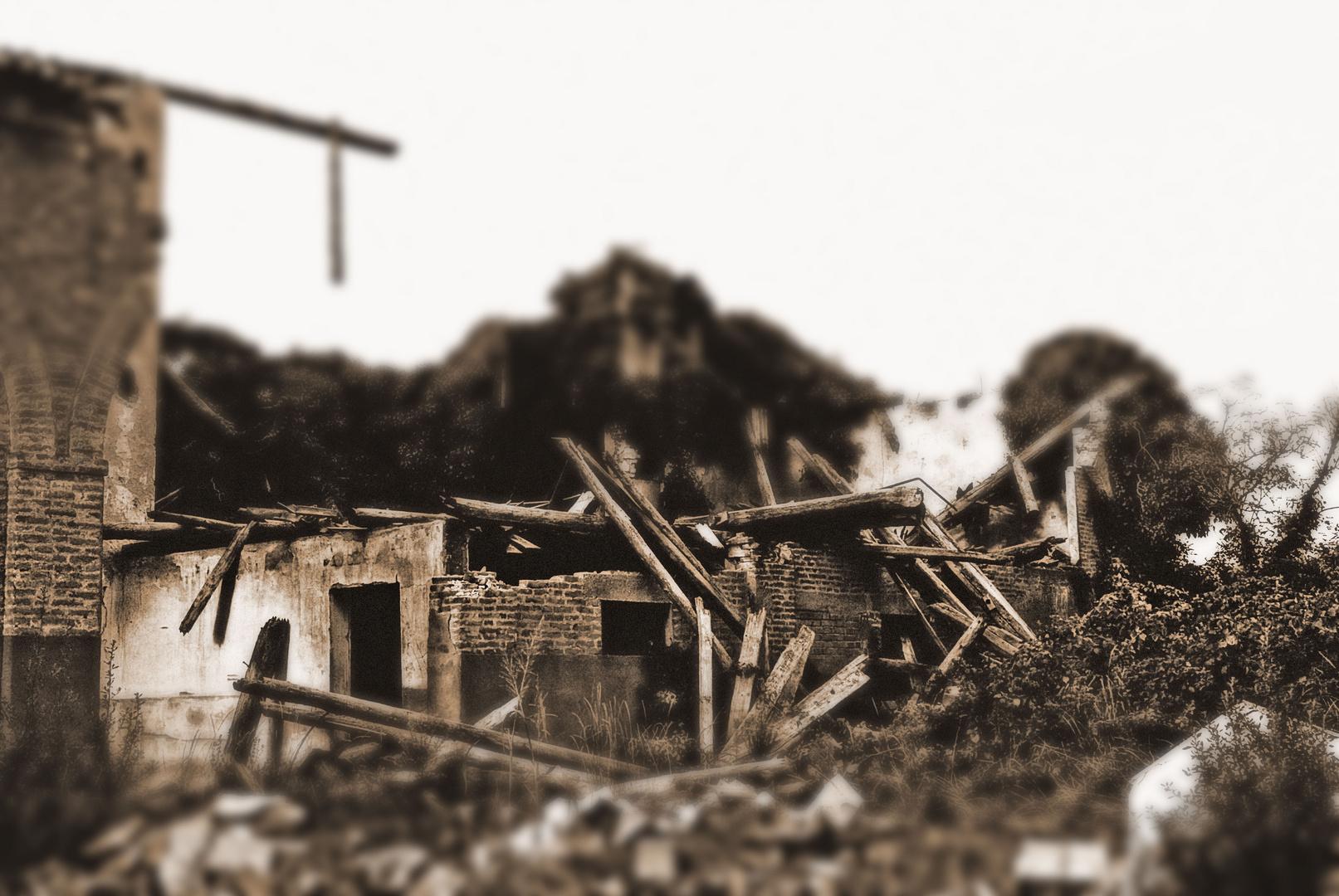 Ruine eines Pferdestalls