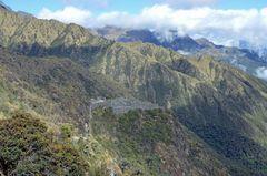 Ruinen der Inkas auf dem klassischen Inka-Trail nach Machu Picchu