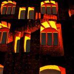ruinenfenster bei nacht