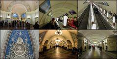 Rund um die Metro in Moskau