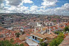 Rundblick 360 Grad auf Lissabon vom Castelo de Sao Jorge