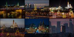 Rundblick über Moskau und den Kremel