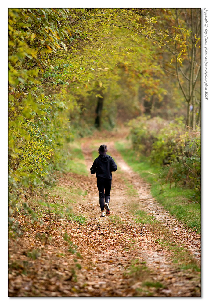 Running alone in the fall