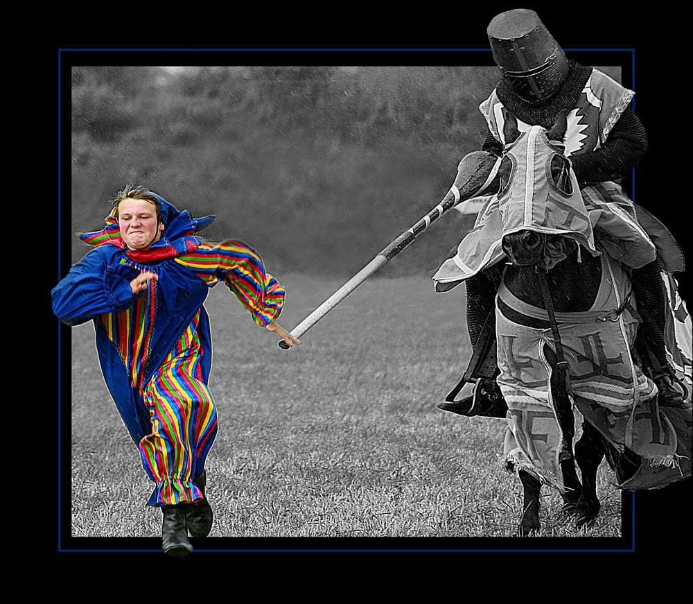 Running down a clown