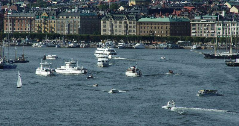 Rush-hour in Stockholm