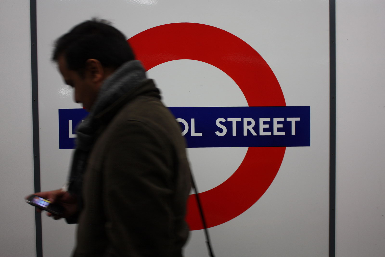 Rush hour in the tube