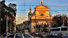 ... Rushhour vor der Karlskirche ...