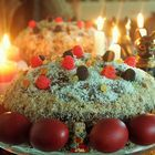 Russian Easter Cake & Candles