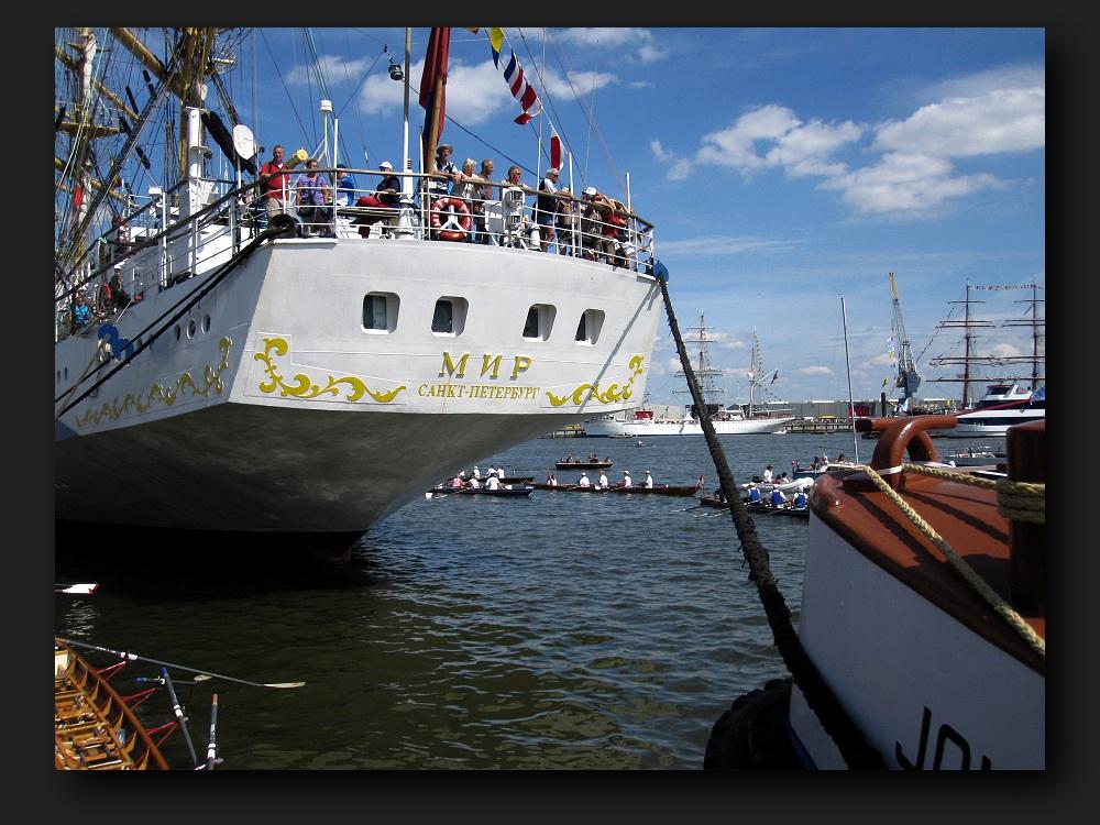 """Russia's fastest sailing-ship """"Mir"""""""