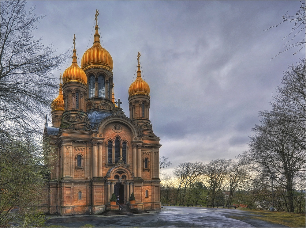 Russisch-Orthodoxe Kirche Wiesbaden Foto & Bild