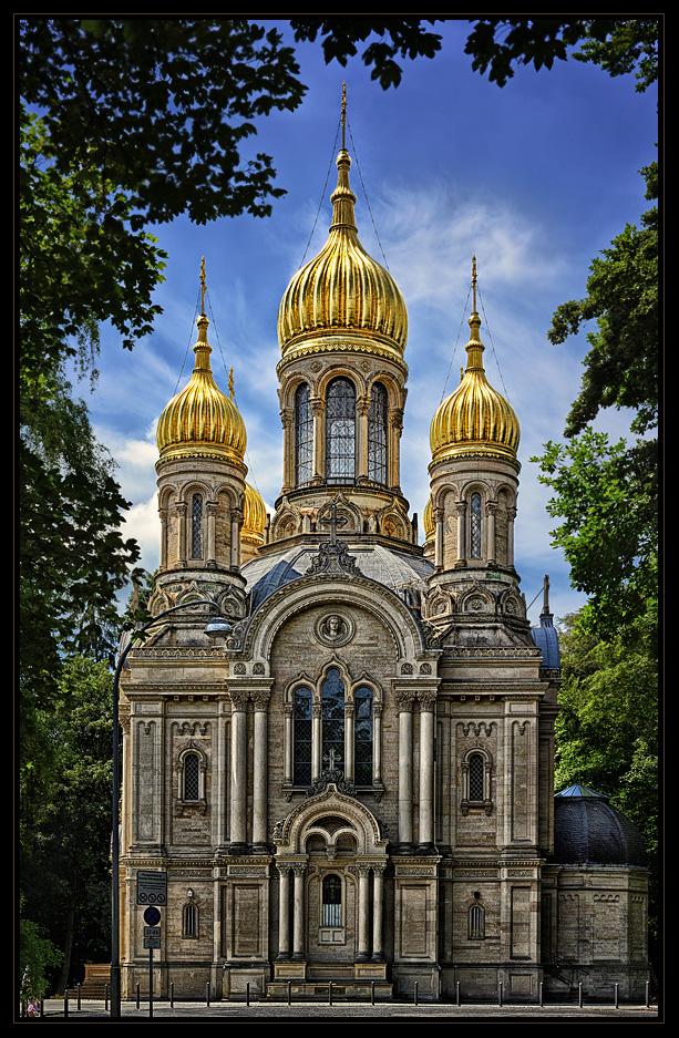 Russisch- Orthodoxe Kirche, Wiesbaden Foto & Bild