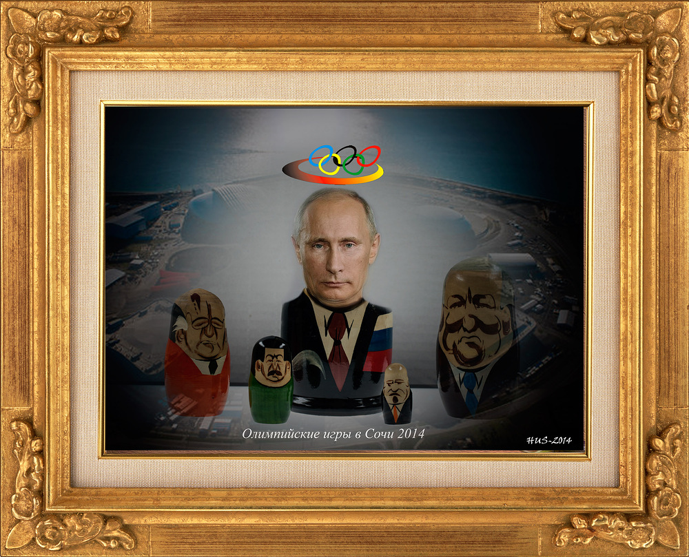 Russischer Wohnzimmerschmuck dieser Tage