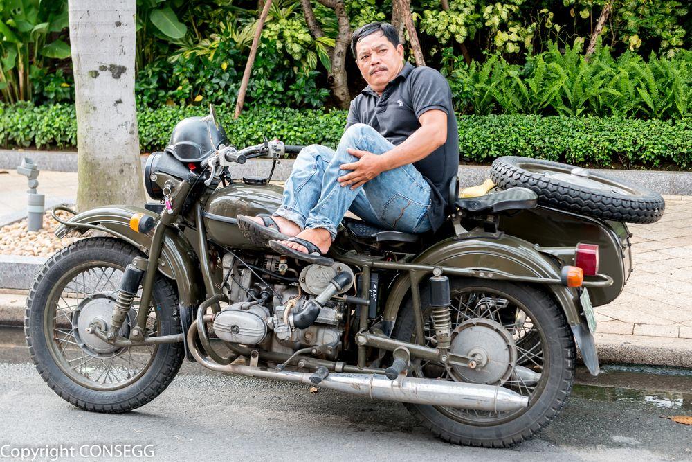 russisches motorrad foto bild asia vietnam southeast. Black Bedroom Furniture Sets. Home Design Ideas
