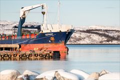 Russisches Schiff in Kirkenes