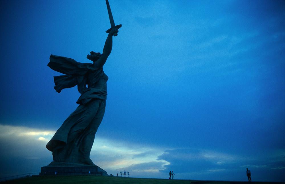 """Russland 2008, Wolgograd, """"Rodina mat sowjot!"""", (""""Mutter Heimat ruft!"""")"""