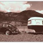 rustikales Camping mit Aussicht