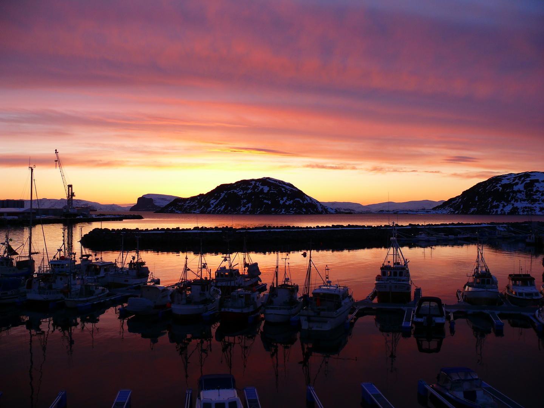 Rypefjord Sonnenuntergang