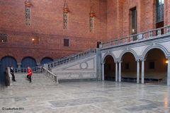 Saal im Rathaus von Stockholm