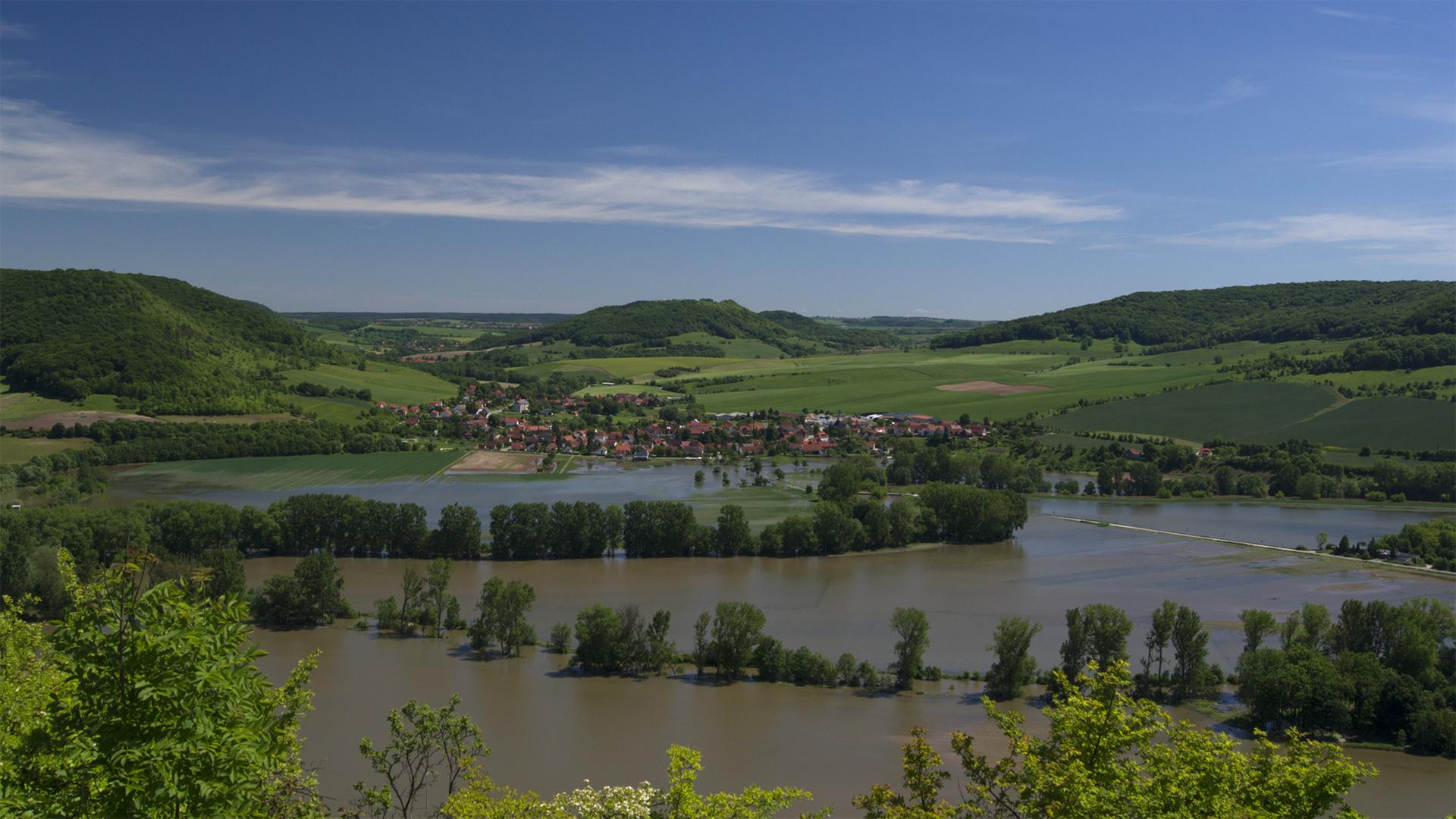 Saalehochwasser Juni 2013
