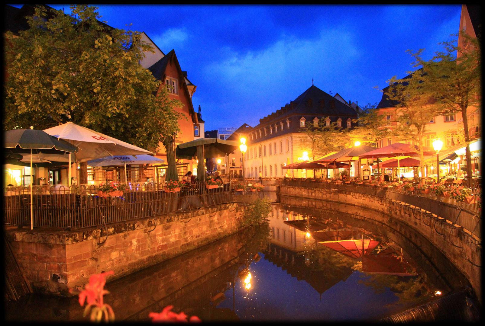 Saarburg am Abend