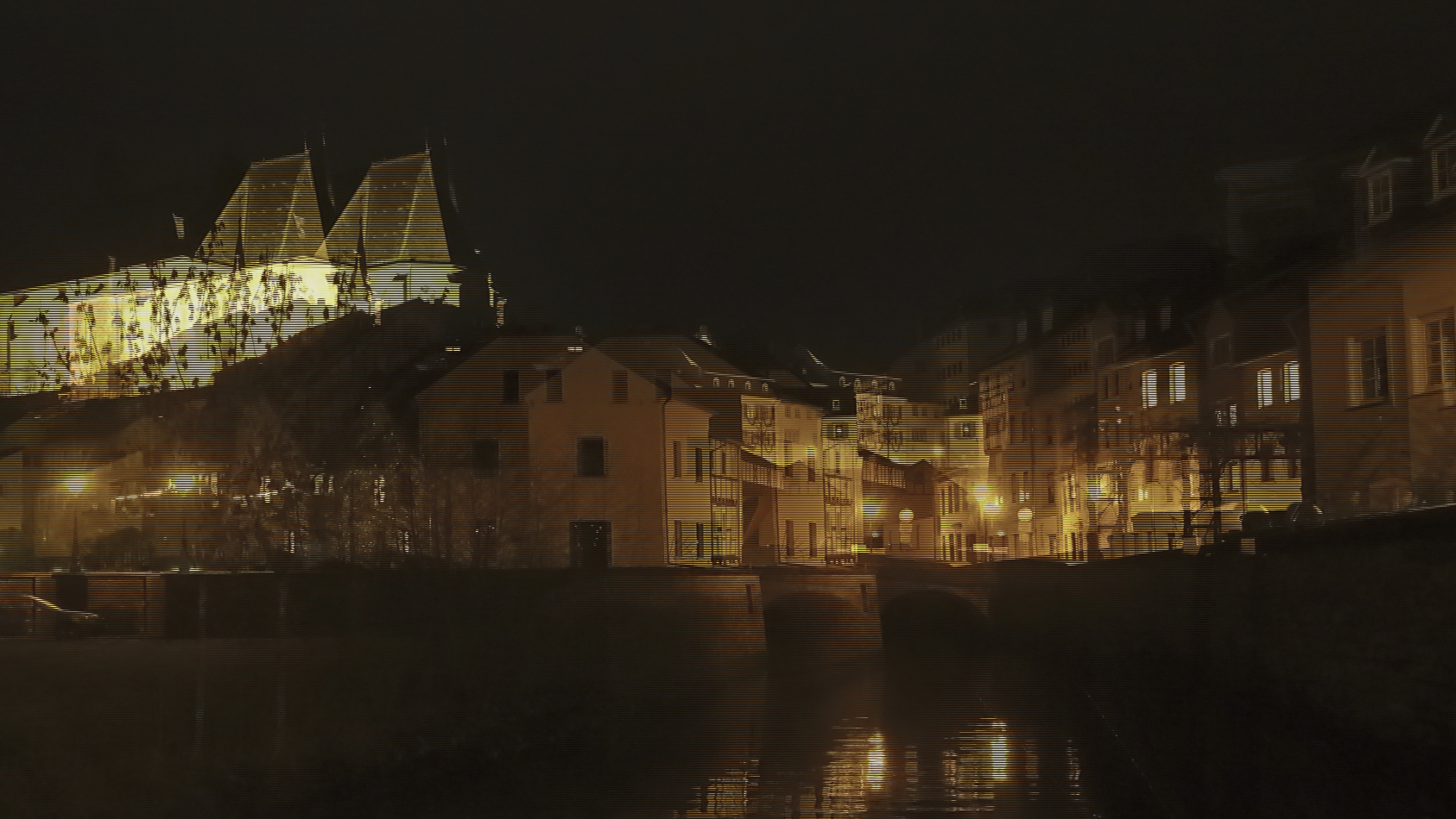 Saarburg bei Nacht 9 (3D)