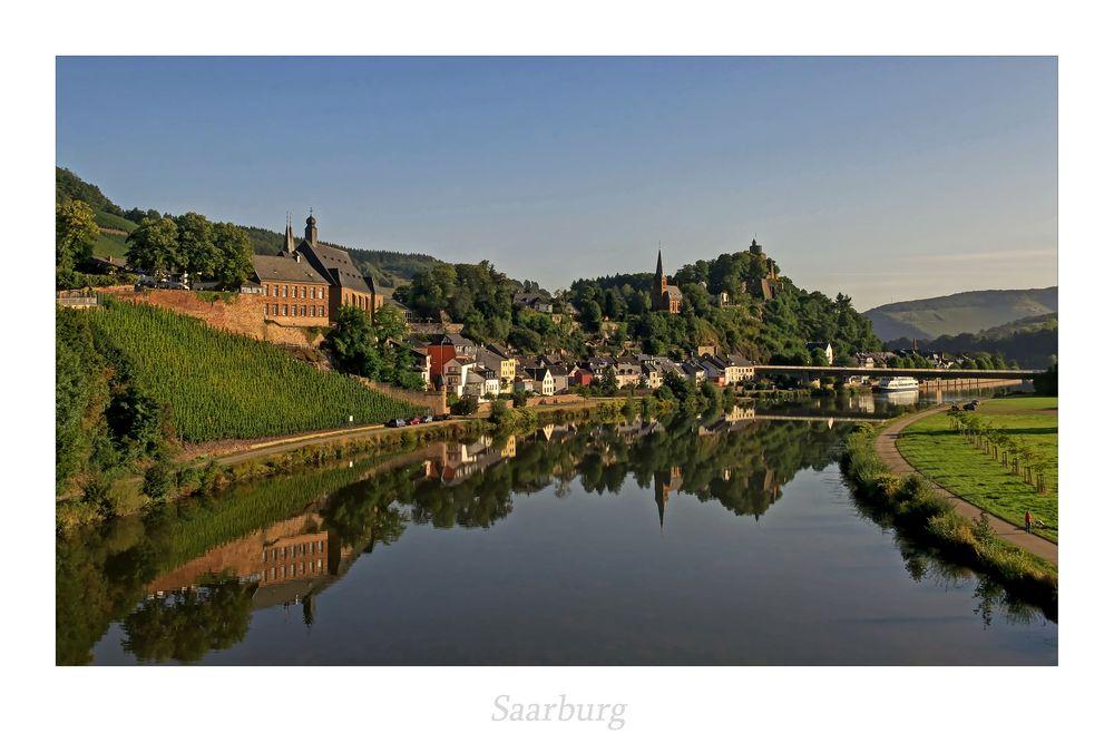 """Saarburg """" im Spiegelbild...."""""""