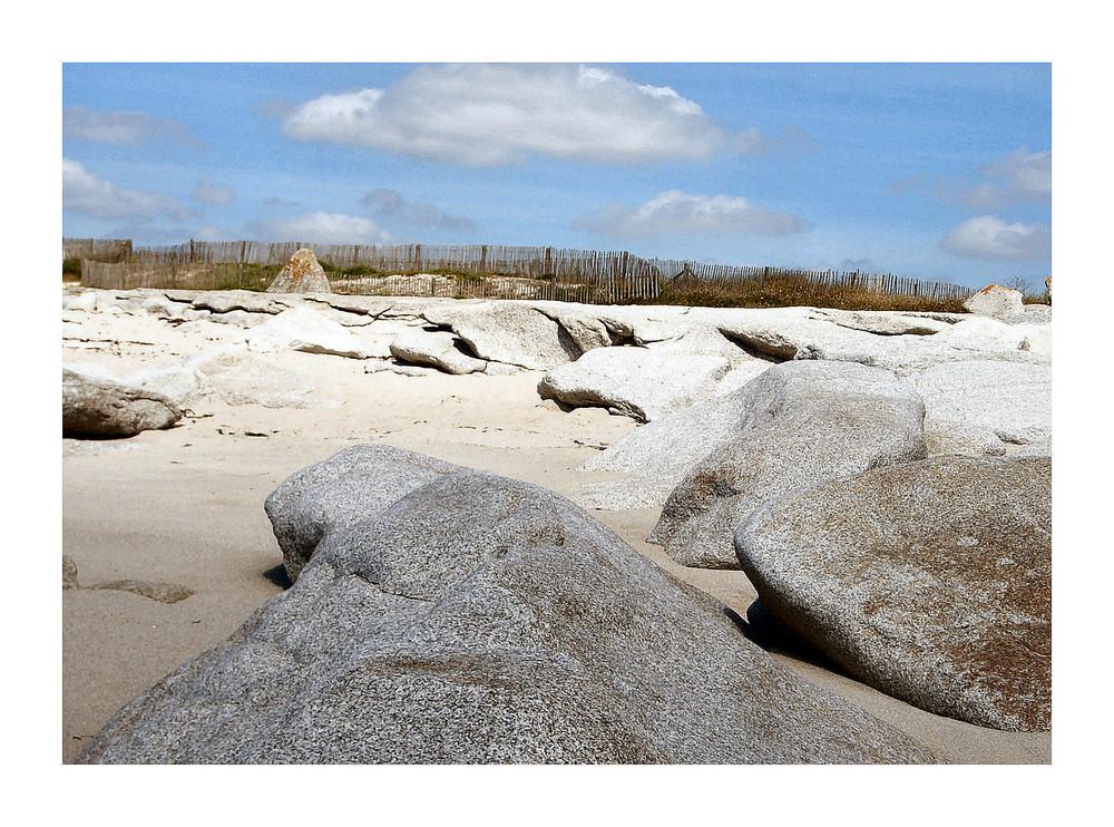 Sable et rochers
